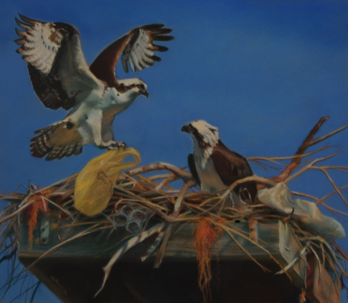 """All That Glitters"", pastel, $1420"