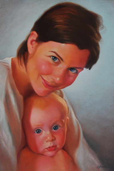 """Erin and Oisin"", pastel"