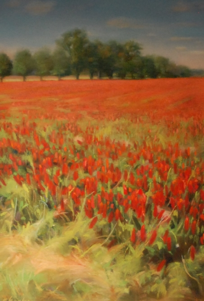 """Red Clover at Chino Farms"", pastel $750"