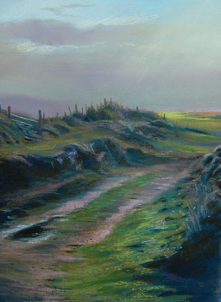 """Northern Light, Donegal, Ireland"", pastel $650"