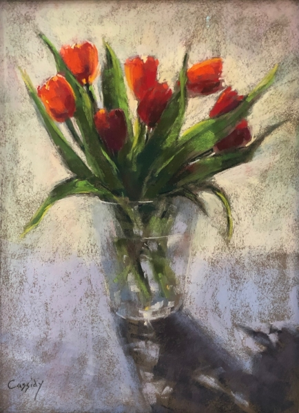Red-Tulips-pastel-by-Katie-Cassidy