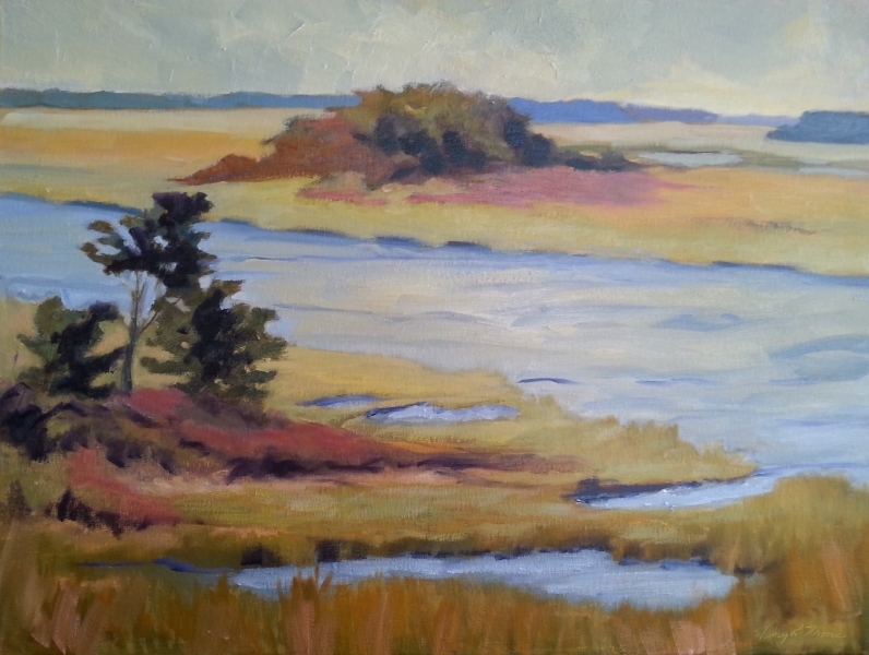 Lighthouse View High Tide 24X18 oil 5