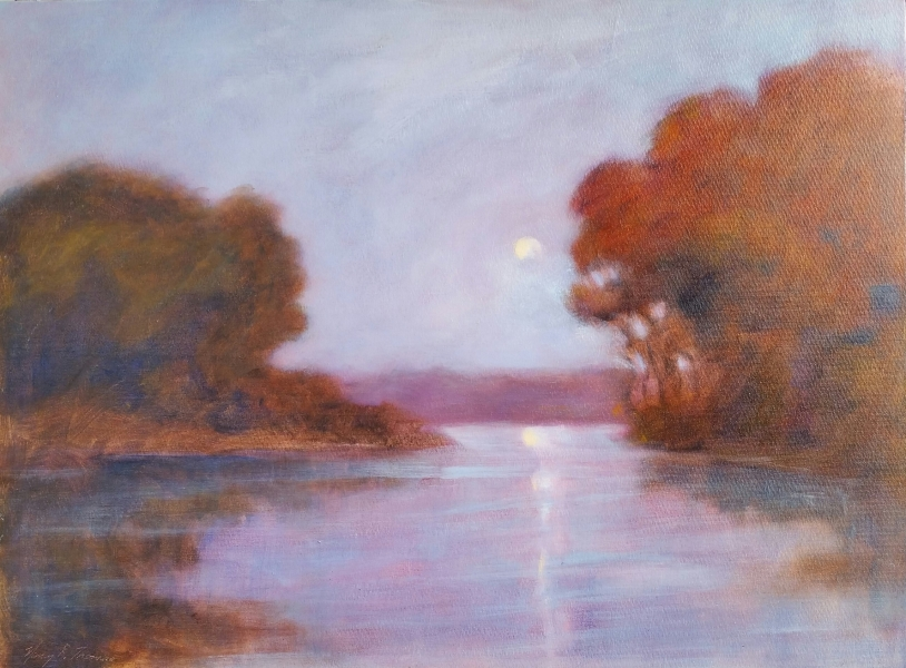 Moonlit, OIL 24X18