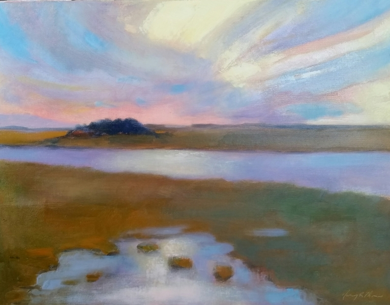 NRTLighthouse ViewSunsetOil24X18