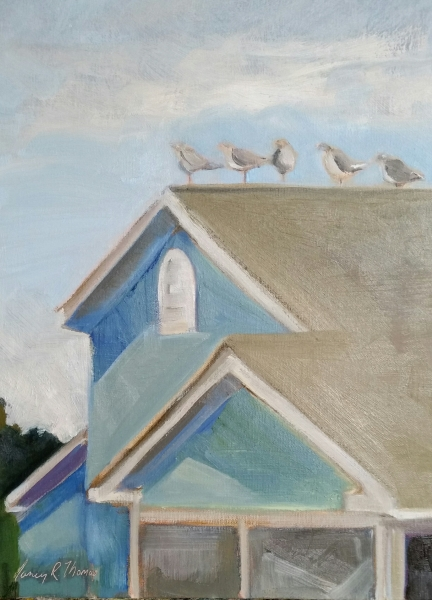 The Neighbors 9X12 Oil