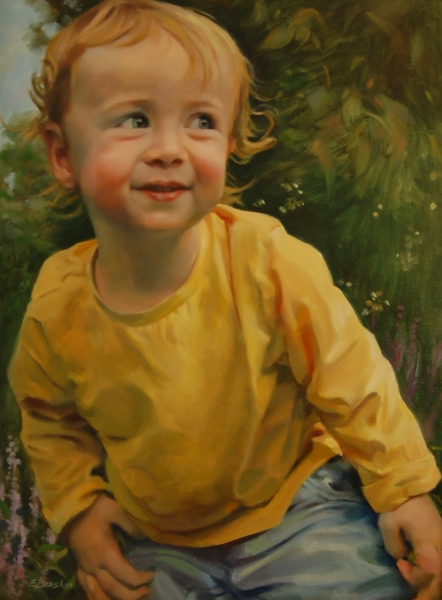 """""""In the Monkey Grass"""", oil on canvas"""