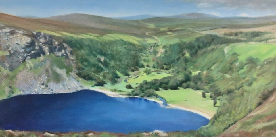 Guiness-Lake-18x36-oil-by-Evie-Baskin