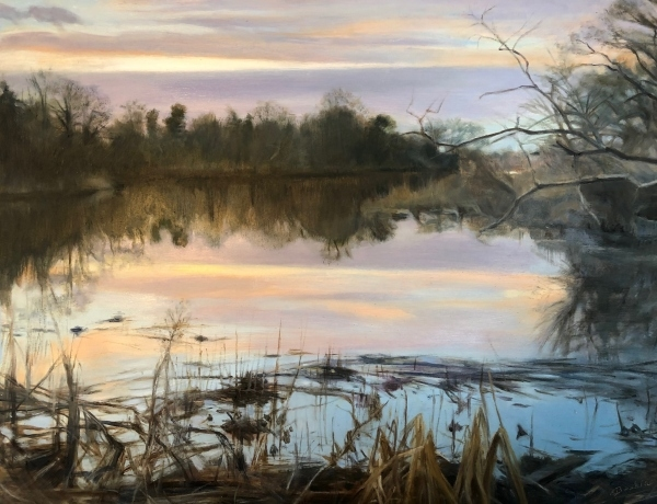 Inlet-Reflections-16x20-oil-by-Evie-Baskin