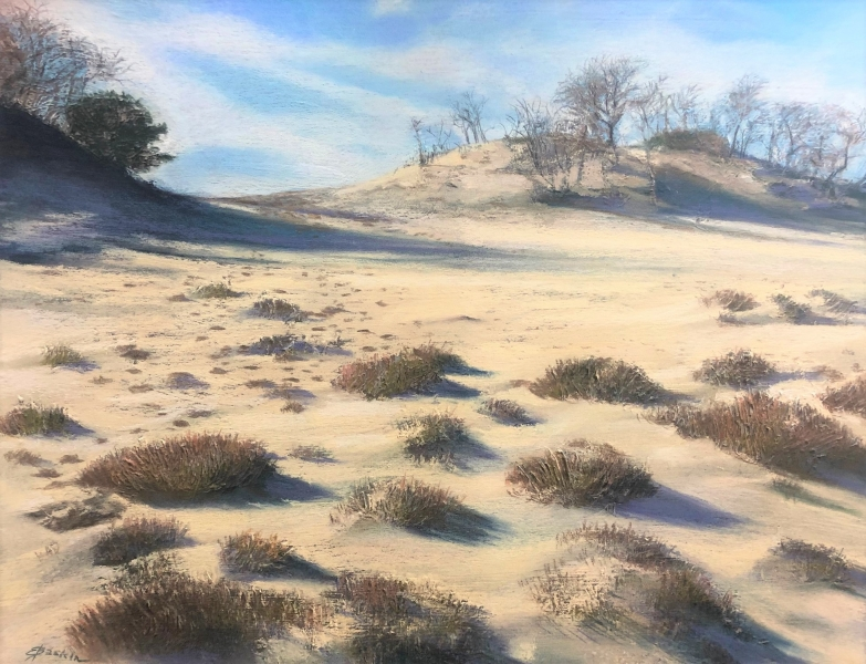 Moonscape on the Cape, pastel by E. Baskin