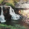 Blackwater-Falls-West-Virginia-18x24-pastel-by-Evie-Baskin