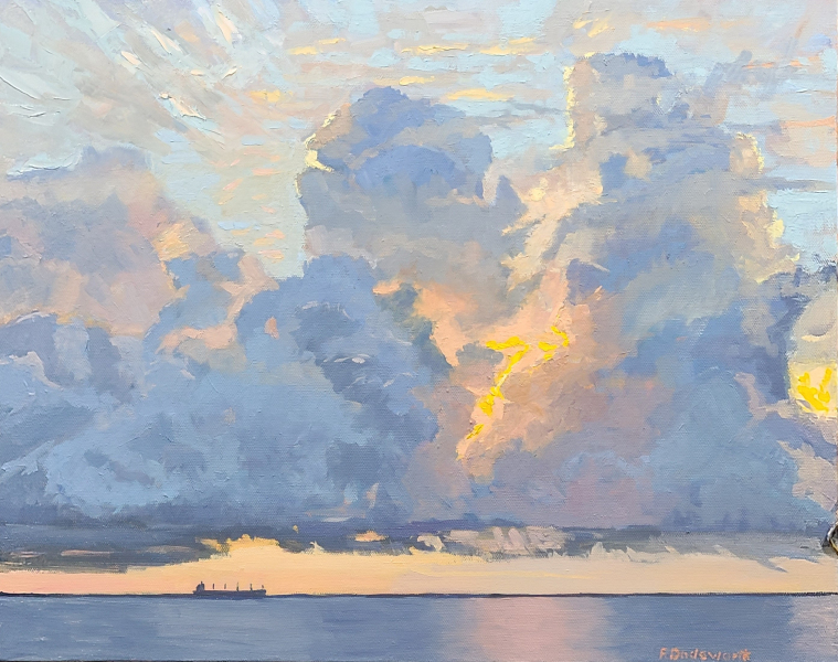 Shipping-News-2-16x20-oil-on-canvas-by-Freeman-Dodsworth