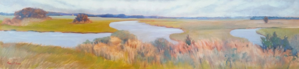 Panoramic View from the Lighthouse Oil 48X12