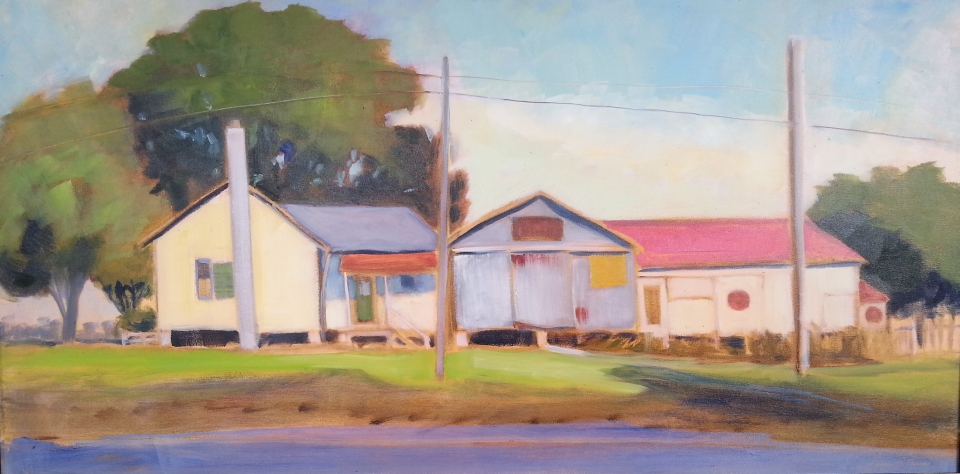 Sparks Bros. Feed Store, Oil, 36X18